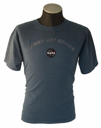 Mens Garment Dyed T-Shirt I Need My Space Blue