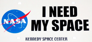 I Need My Space - License Plate