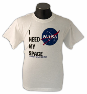I Need My Space - White - Youth Tee