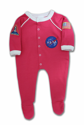 Infant Flight Suit Romper Pink