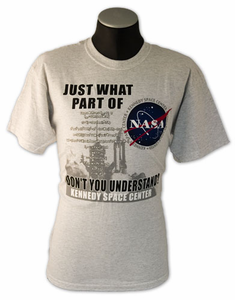 Mens T-Shirt Its Only Rocket Science Ash