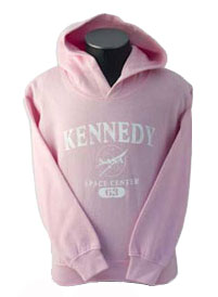 Kids Hooded Sweatshirt Kennedy Space Center Pink