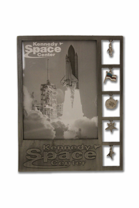 Kennedy Space Center Metal Charm Frame