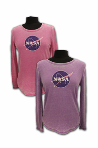 Ladies Long Sleeve T-Shirt - Thermal Meatball Logo - Assorted Colors