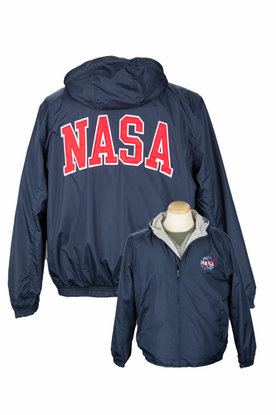 Mens Jacket - Collegiate Zip Up - Navy