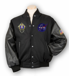 Mens Jacket - Varsity Collegiate - Black
