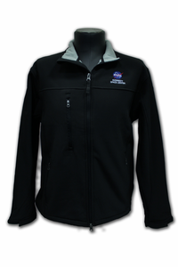 Mens Jacket - NASA Kennedy Space Center Zip Up - Black