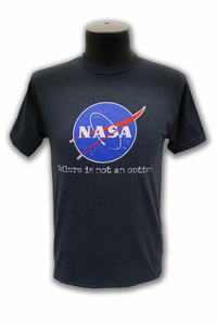 Mens NASA Meatball Failure Is Not An Option T-Shirt - Grey