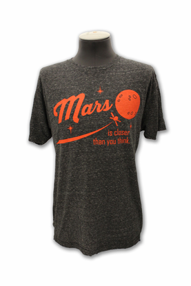 Mens T-Shirt Mars is Closer Than You Think Charcoal