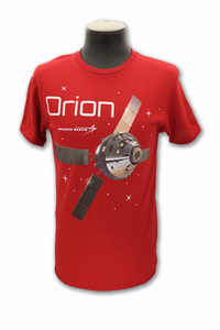 Mens T-Shirt Orion Lockheed Red