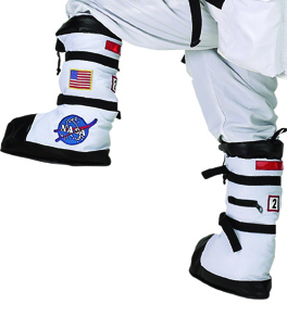 Kids Astronaut Flight Gear Boots Choice of White or Black