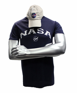 Mens NASA Hat and Tee Combo - Navy