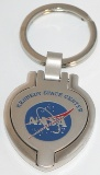 NASA Logo Heart Shaped Locket Key Chain