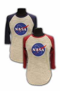 Junior T-Shirt - NASA Meatball Baseball - Assorted Colors