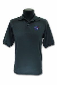 Mens Polo - NASA Meatball - Charcoal