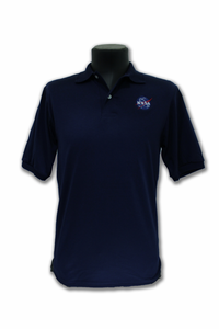 Mens Polo Official NASA Meatball Navy