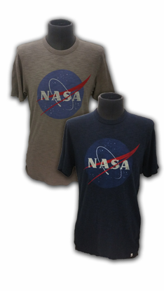 Mens T-Shirt Official NASA Meatball 47 Brand Gray or Navy