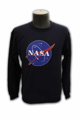 Mens Sweatshirt - NASA Meatball Logo Crew Neck - Assorted Colors