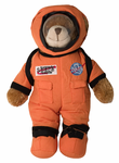 NASA Mission Crew Stuffed Bear - Orange