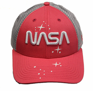 New Era NASA Worn Mesh Back Ladies Hat - Pink