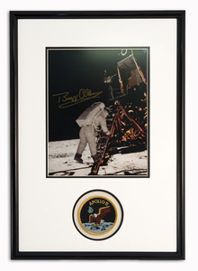 NEW! Buzz Aldrin With Lander Autographed Portrait