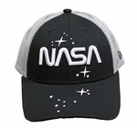 New Era NASA Worn Mesh Back Ladies Hat - Black