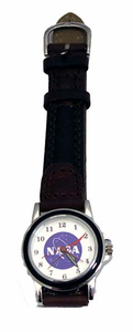 Ladies NASA Meatball Watch - Brown Leather