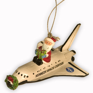 Santa on Shuttle Ornament