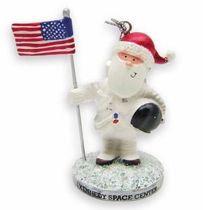 Santa on the Moon Ornament