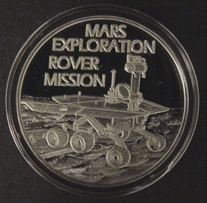 Silver Coin Replica <br> Commemorating the Mars Rover Mission