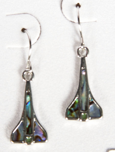 Space Shuttle Abalone Earrings