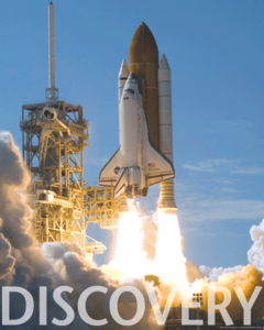 Space Shuttle Discovery Day Launch Poster