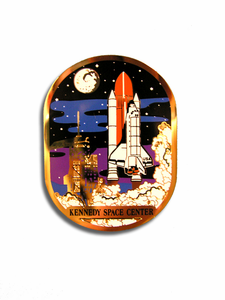 Space Shuttle Night Launch Magnet