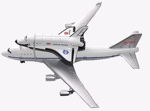 Space Shuttle Piggyback on 747