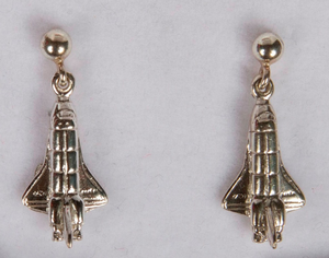 Sterling Silver Orbiter Post Earrings