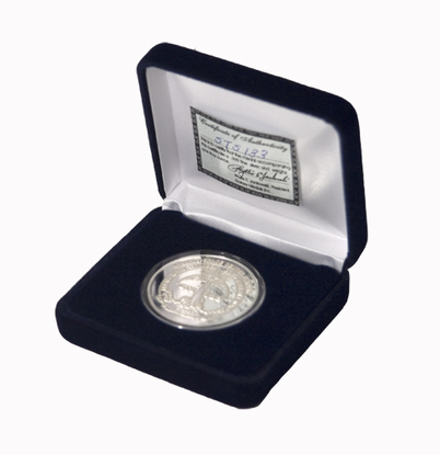 NASA Silver Coin with Astronauts Names - Pics about space
