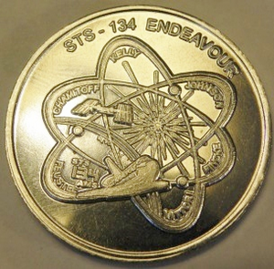 STS-134 Space Shuttle Endeavour Bronze Coin