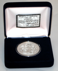 STS 134 Space Shuttle Endeavour Mission Silver Coin