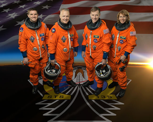 STS 135 Space Shuttle Atlantis Official Crew Photo