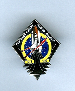 STS 135 Space Shuttle Atlantis Pin