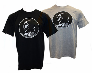 Mens T-Shirt U.S. Astronaut Hall of Fame Gray