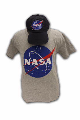 Kids T-Shirt Official NASA Meatball Hat and Tee Combo Gray