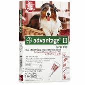 6 MONTH Advantage II Flea Control Large Dog (for Dogs 21-55 lbs.)