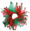 "Holiday Party Collar - Xmas Red & Green Stars - Large (14"")"