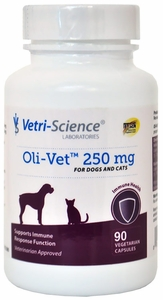Oli-Vet Olive Leaf Extract 250 mg (90 caps) by VETRI-SCIENCE