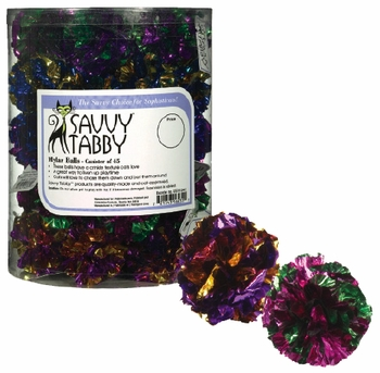 Savvy Tabby Mylar Ball (45 pieces)