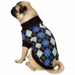 Zack & Zoey Argyle Prep Sweater Blue - MEDIUM