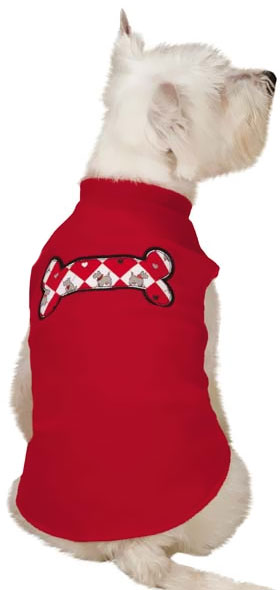 Zack & Zoey Sweetheart Scottie Fleece Vest Red