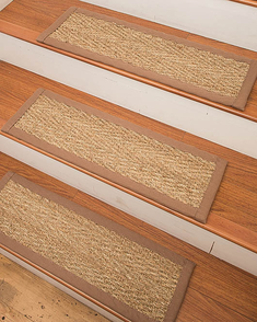 Beach Seagrass Carpet Stair Treads