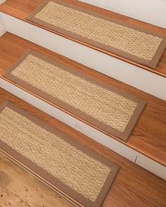 Half Panama Seagrass Carpet Stair Treads